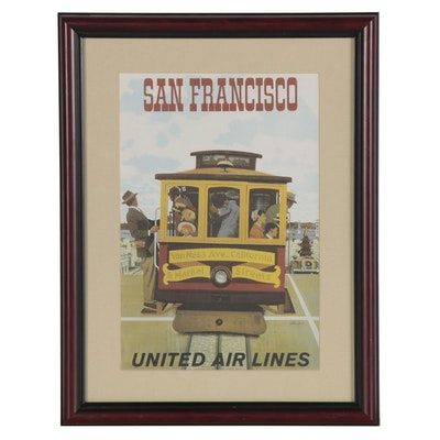 "United Airlines Offset Lithograph Advertisement ""San Francisco"""