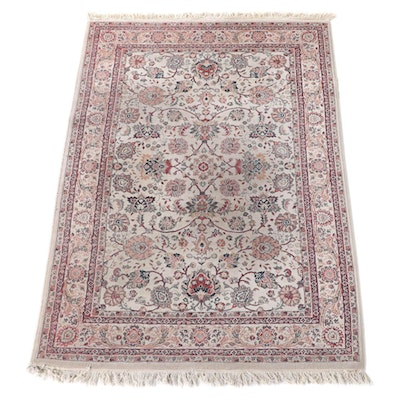 5'3 x 8'3 Machine Made Chateau Collection Floral Area Rug