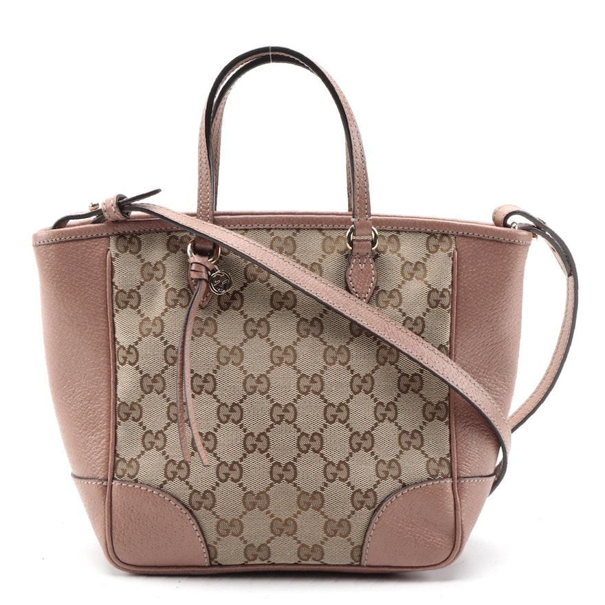 Gucci Bree GG Canvas and Leather Convertible Tote