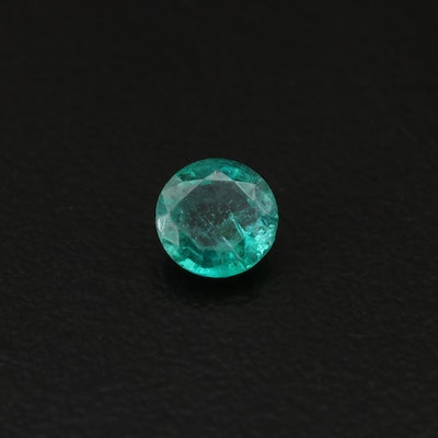 Loose 0.59 CT Round Faceted Emerald