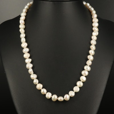 Baroque Pearl Strand Necklace with 14K Clasp