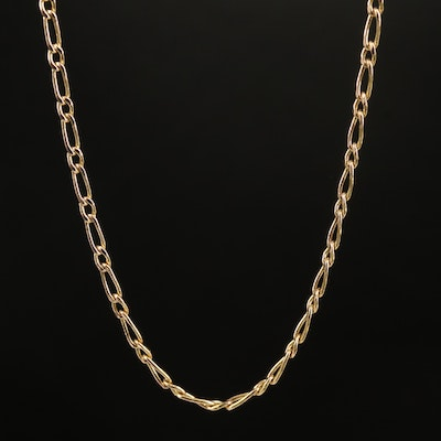 10K  Curb Style Chain Link Necklace