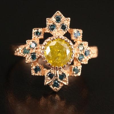 14K 1.39 CTW Diamond Ring with Milgrain Detail