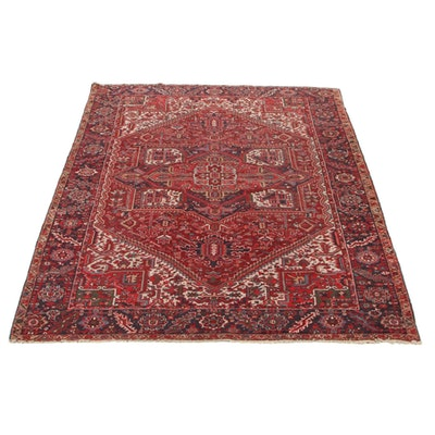 9'8 x 12'3 Hand-Knotted Persian Heriz Room Sized Rug, 1930s