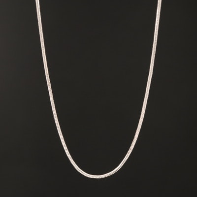 14K Snake Chain Necklace with Adjustable Length