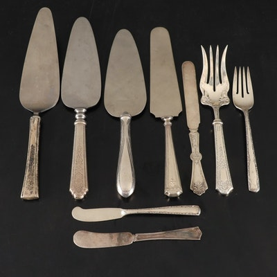 "Gorham ""Camellia"" and Other Sterling Silver Flatware, Early to Mid 20th C."