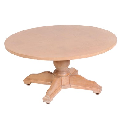 Pine Convertible Pedestal Coffee and Dining Table