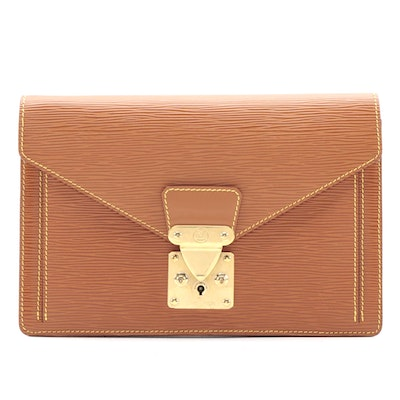 Louis Vuitton Dragonne Clutch in Cipango Gold Epi Leather