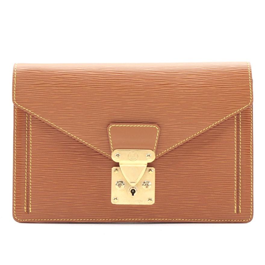 Louis Vuitton Dragonne Clutch in Cipango Gold Epi Leather