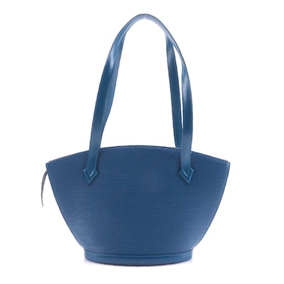 Louis Vuitton Saint Jacques PM Handbag in Blue Epi Leather