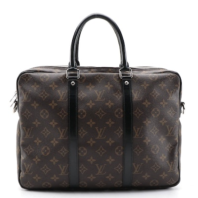 Louis Vuitton Monogram Canvas Macassar Porte-Documents Voyage PM Briefcase