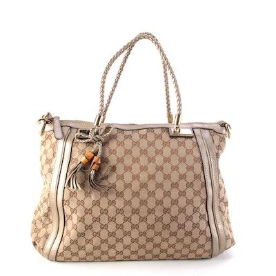 Gucci Bella Zip Tote Bag in GG Canvas