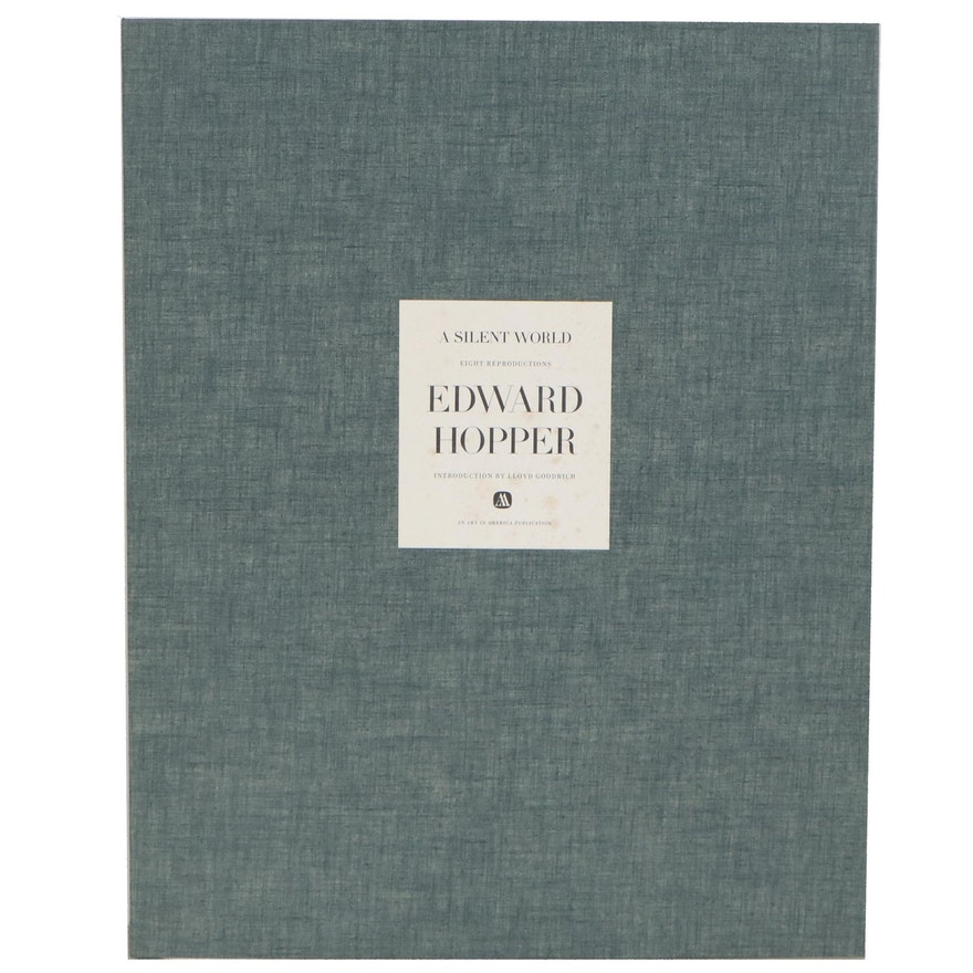 """A Silent World: Watercolors and Drawings"" Folio by Edward Hopper with Plates"