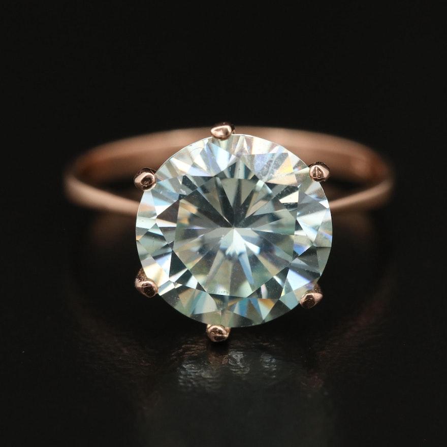 14K Moissanite Ring