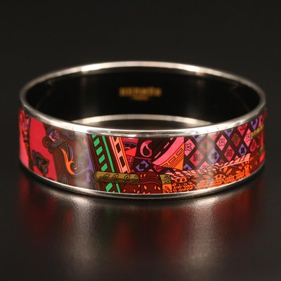 Hermès Enameled Bangle