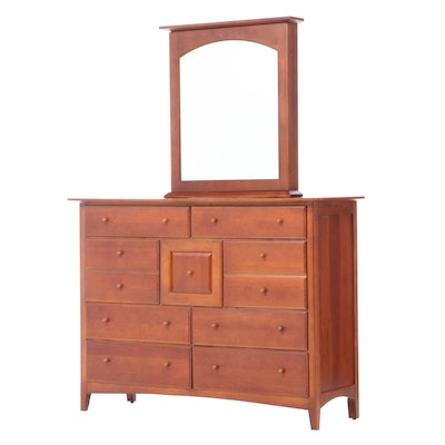 """Impressions"" By Thomasville Cherrywood Dresser with Jewelry Box Mirror"