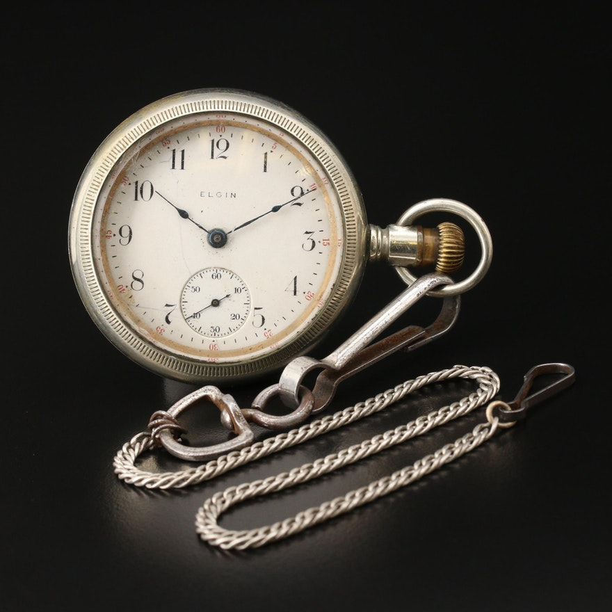 1910 Elgin Sidewinder Pocket Watch