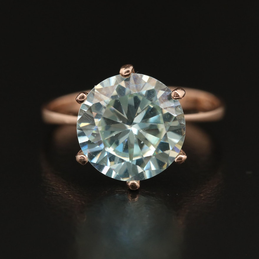 14K Moissanite Ring