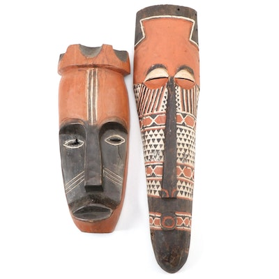 Central African Polychrome Wood Masks