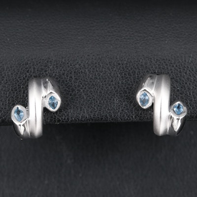 Sterling Spinel Abstract Earrings