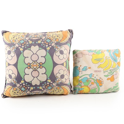 Peter Max Throw Pillows, Mid to Late 20th Century