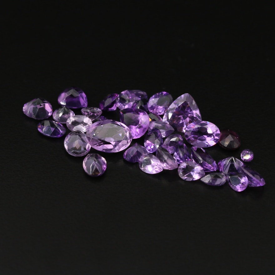 Loose 26.14 CTW Faceted Amethysts