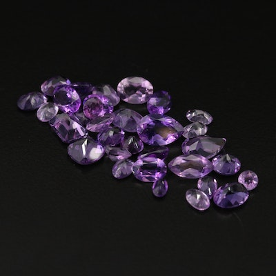 Loose 23.86 CTW Faceted Amethyst
