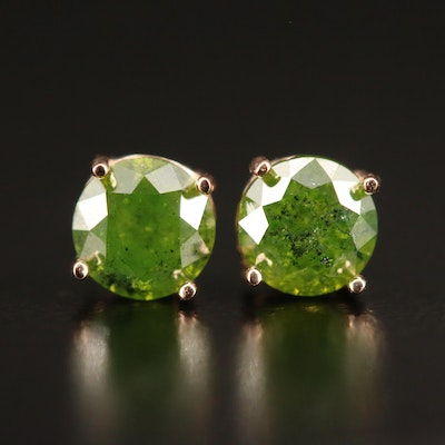 14K 0.87 CTW Diamond Stud Earrings