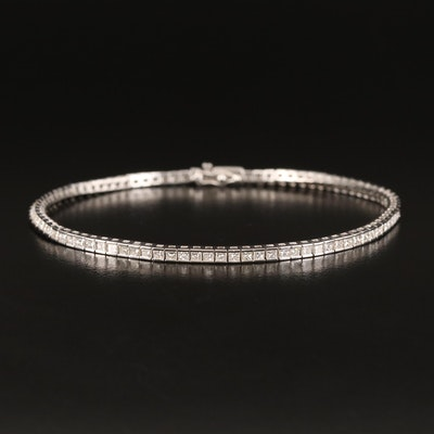18K 3.15 CTW Diamond Tennis Bracelet