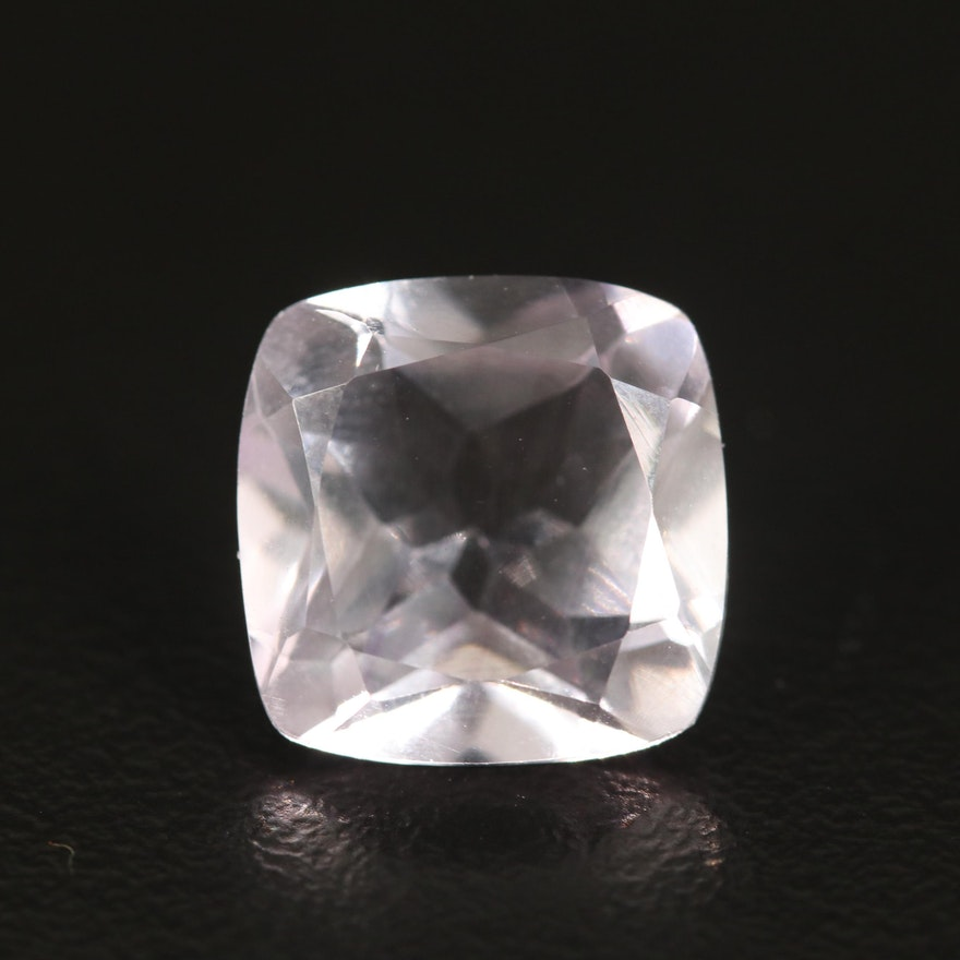 Loose 6.91 CTW Cushion Faceted Amethyst