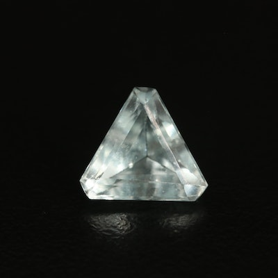 Loose 2.11 CT Trillion Faceted Aquamarine