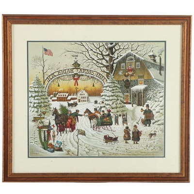 "Charles Wysocki Offset Lithograph ""Christmas Greeting"""