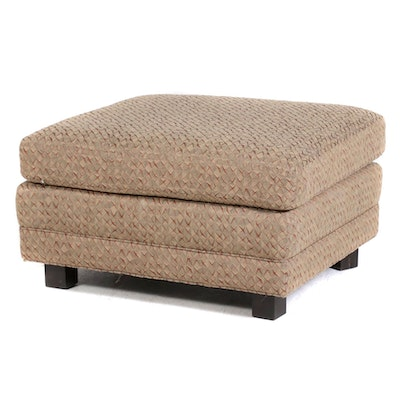 Custom Upholstered Ottoman with Removable Top Cushion