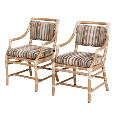 Pair of McGuire Bentwood Armchairs, Late 20th Century