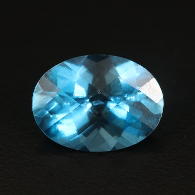 Loose 9.51 CT London Blue Topaz