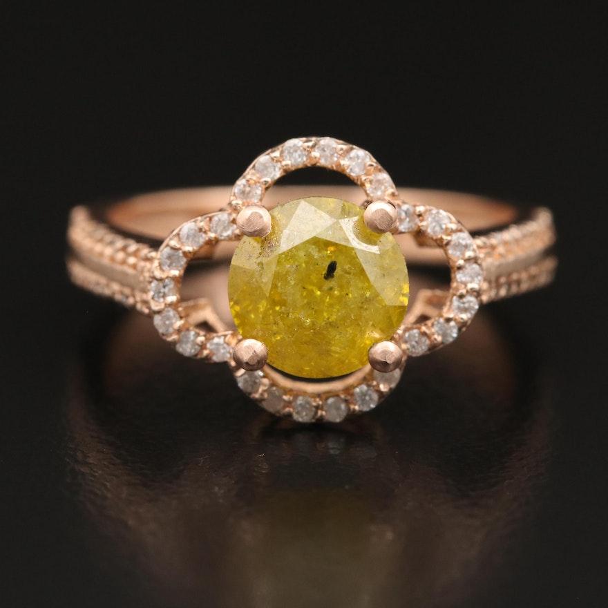 14K Rose Gold 2.34 CTW Diamond Ring