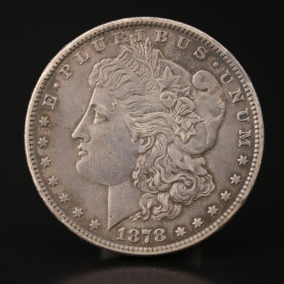 Toned 1878 7 Tail Feathers Morgan Silver Dollar