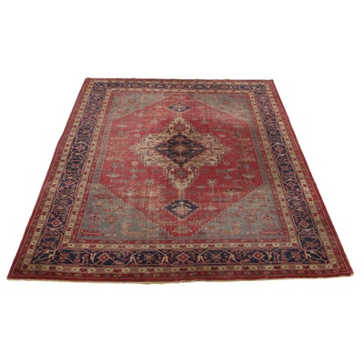 10' x 13'1 Hand-Knotted Turkish Village Room Sized Rug, 1920s
