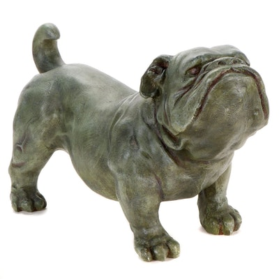 Art D'France Faux-Bronze Composite Bulldog Sculpture