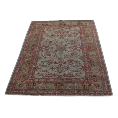 8'8 x 11'7 Hand-Knotted Pakistani Persian Tabriz Room Size Rug, 2000s