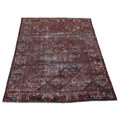 6'7 x 10'4 Hand-Knotted Persian Zanjan Area Rug, 1930s