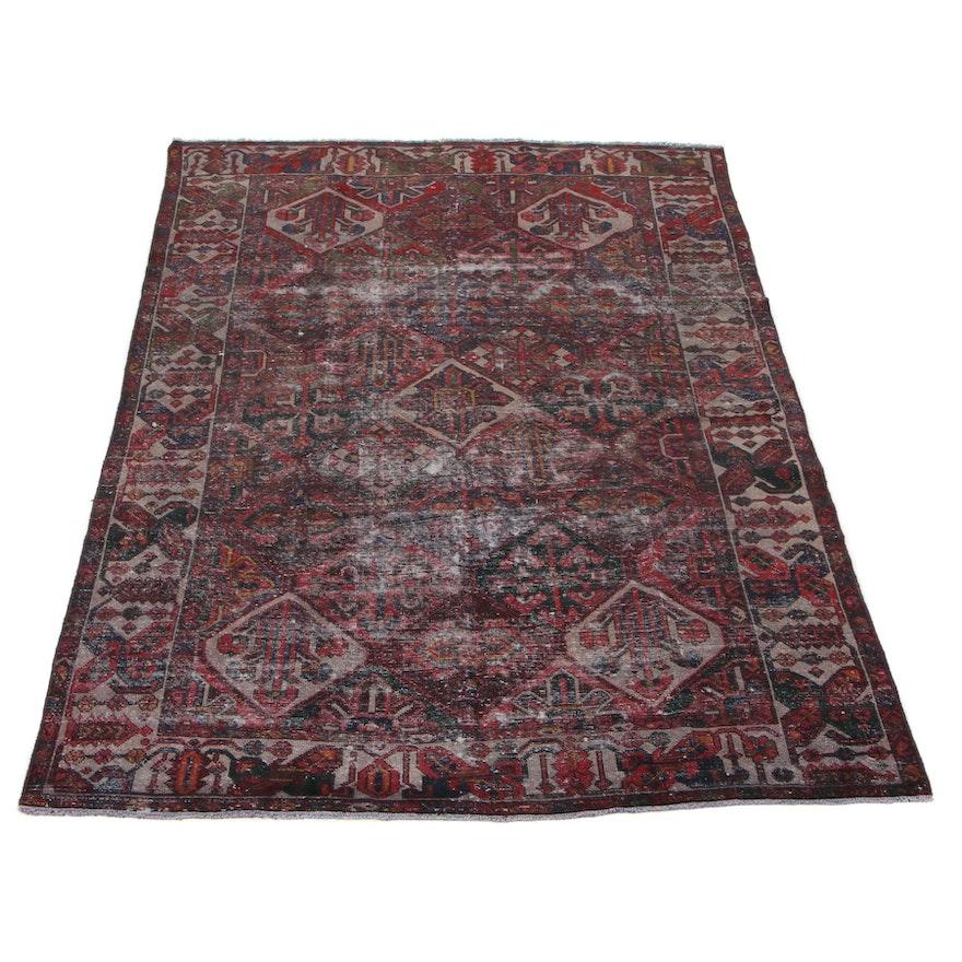 6'7 x 10'4 Hand-Knotted Persian Zanjan Area Rug, 1930s