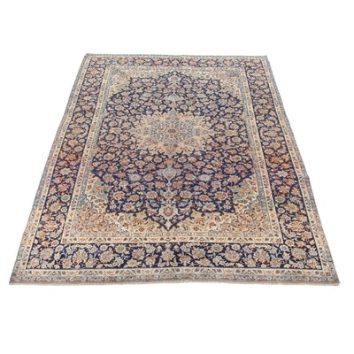 9'6 x 13'9 Hand-Knotted Persian Isfahan Room Size Rug