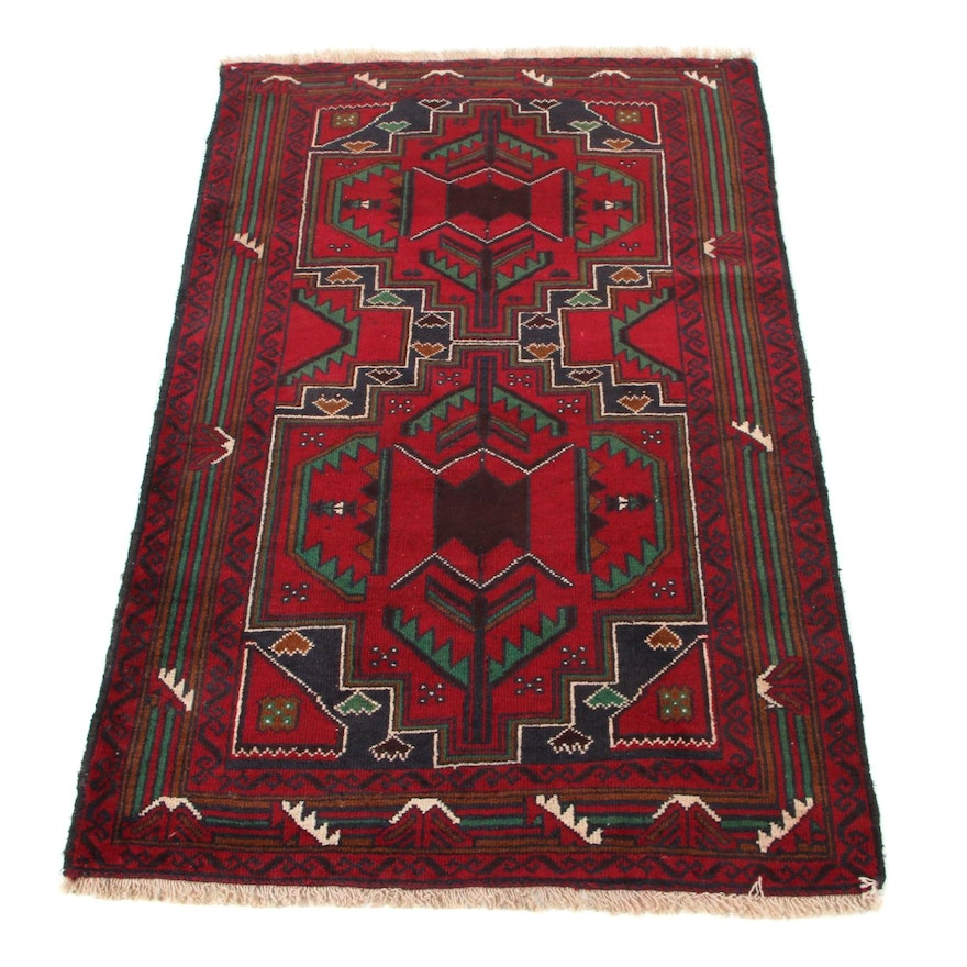 3'0 x 4'10 Hand-Knotted Persian Baluch Area Rug, 2000s