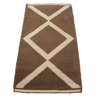 2'4 x 4'7 Hand-Knotted Moroccan Accent Rug, 1970s