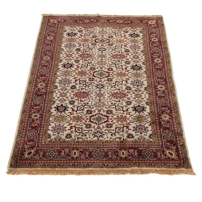 6' x 9'2 Hand-Knotted Indo-Persian Tabriz New Zealand Wool Area Rug, 2000s