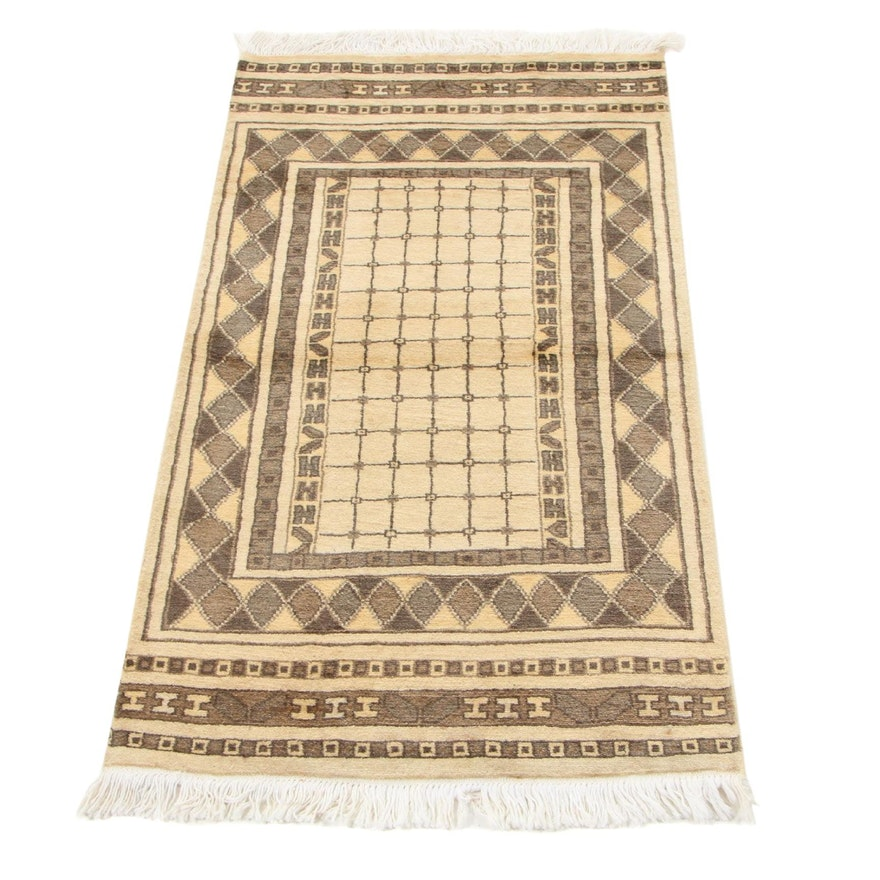 2'3 x 4'3 Hand-Knotted Pakistani Persian Gabbeh Accent Rug, 2010s