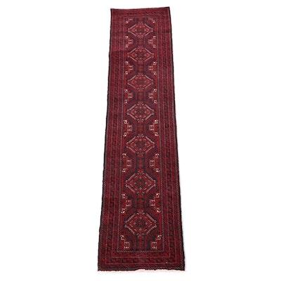 1'11 x 9'4 Hand-Knotted Persian Baluch Wool Carpet Runner