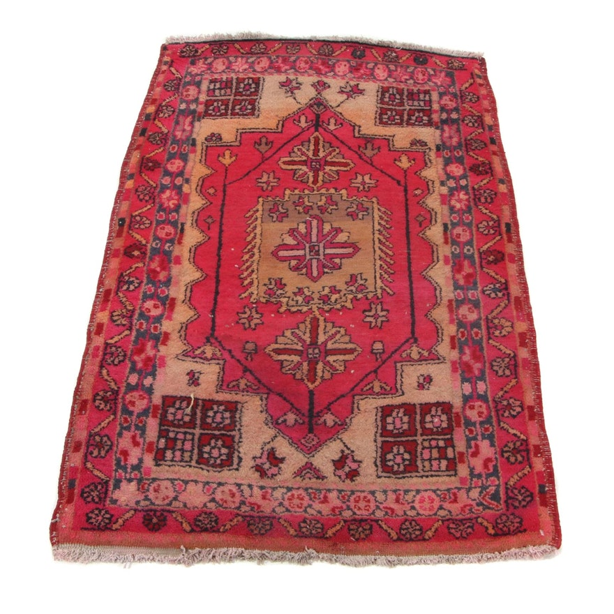 2'6 x 4'1 Hand-Knotted Northwest Persian Accent Rug, 1950s