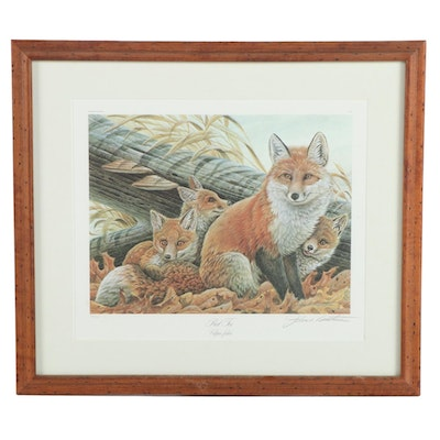 "John Ruthven Offset Lithograph ""Red Fox,"" 20th Century"